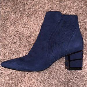 Size 6 Blue Velvet Boots